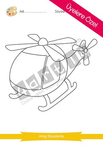 Helikopter Boyama